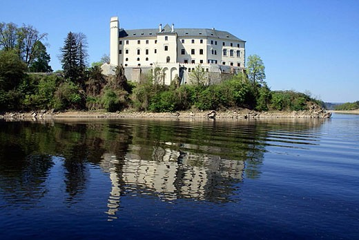 Stock Photo: 1566-375968 Castle Orlik. South Bohemian Region. Czech Republic, Europe