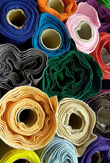 Bale of cloth (felt) : Stock Photo