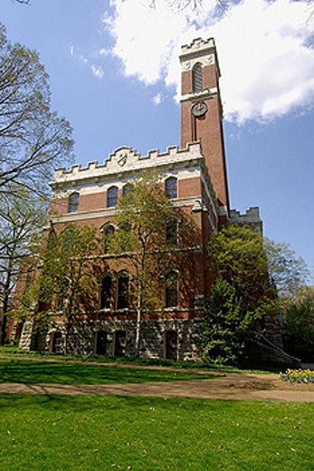 Vanderbilt University Campus Tower. Nashville. Tennessee. USA. : Stock Photo