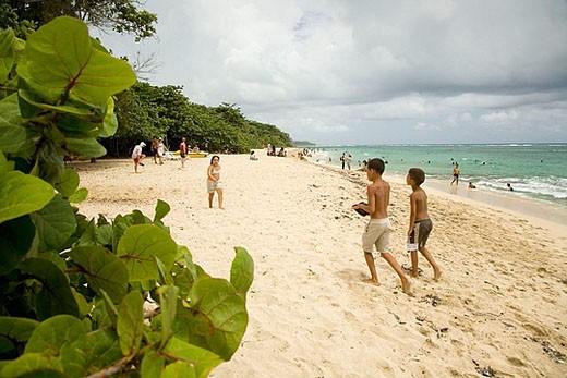 Maguana beach. Baracoa. Guantánamo province. Cuba. : Stock Photo