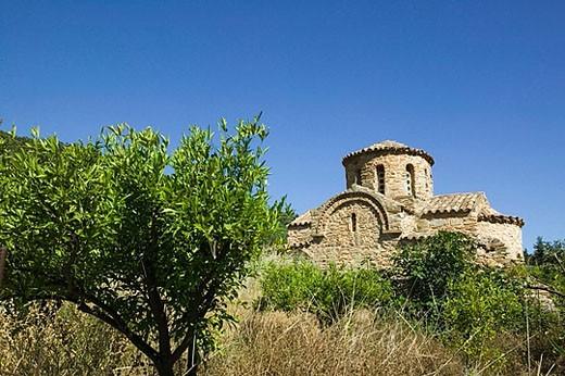 Stock Photo: 1566-376953 Birthplace of Artist El Greco. Byzantine Panayia Church. Fodele. Iraklio Province. Crete. Greece.