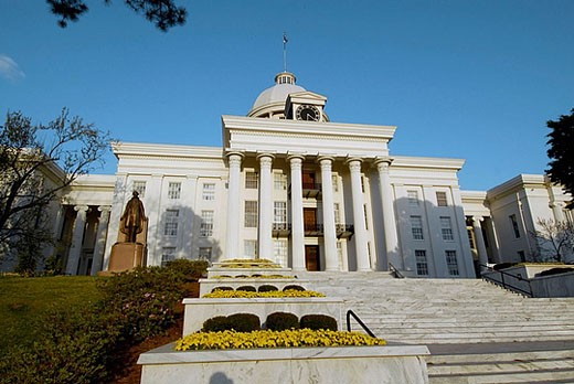 Stock Photo: 1566-377386 Historic State Capitol building, Montgomery. Alabama, USA
