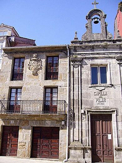 Capilla del Pilar. Corcubión. La coruña Province. Galicia. Spain : Stock Photo