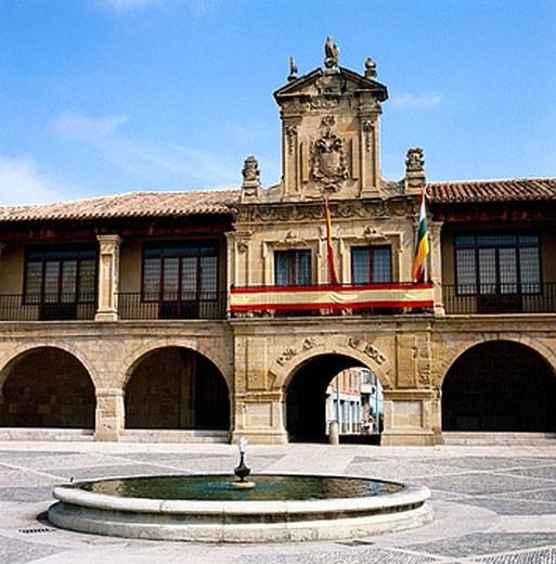 Town Hall, Santo Domingo de la Calzada. La Rioja, Spain : Stock Photo