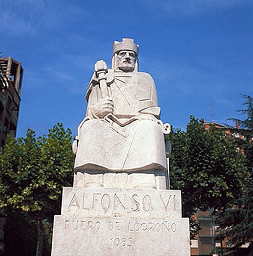 Monument to Alfonso VI of Castile, Logroño. La Rioja, Spain : Stock Photo