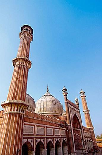 Stock Photo: 1566-378519 Jama Masjid Mosque, Delhi, India