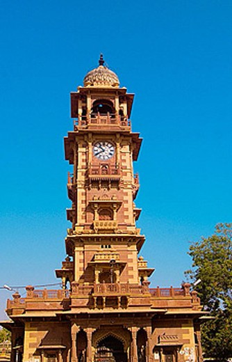 Clock Tower, Sardar Market,  Jodhpur, Rajasthan, India : Stock Photo