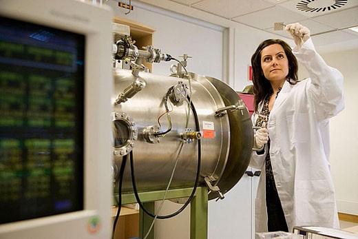 Plasma equipment. Technology and Research Centre. Inasmet-Tecnalia Foundation, San Sebastian, Gipuzkoa, Euskadi. Spain. : Stock Photo