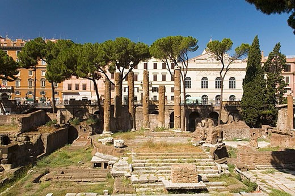 Rome. Italy.  Area Sacra : Stock Photo