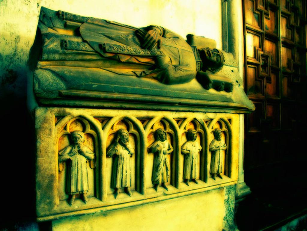 Stock Photo: 1566-381004 Tomb in cathedral, Valencia. Comunidad Valenciana, Spain