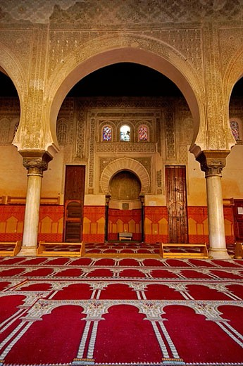 Stock Photo: 1566-382179 Oratory of the Bou Inania medersa (S.XIV). Fez. Morocco.