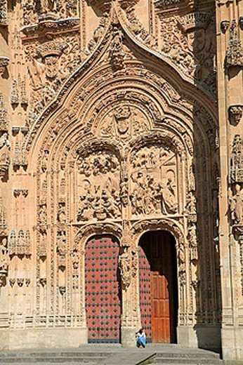 Spain, Castilla Leon, Salamanca, Cathedral, door : Stock Photo