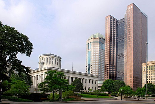 The State Capitol Building at Columbus Ohio OH : Stock Photo