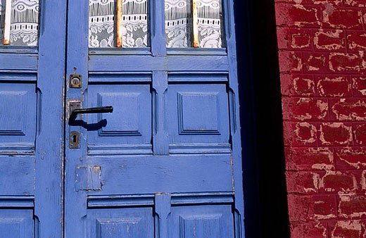 Stock Photo: 1566-384041 Blue Door, Ault, La Somme, Picardie, France
