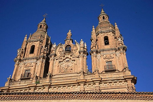 Spain, Castilla Leon, Salamanca, Clerecia church and jesuit college : Stock Photo