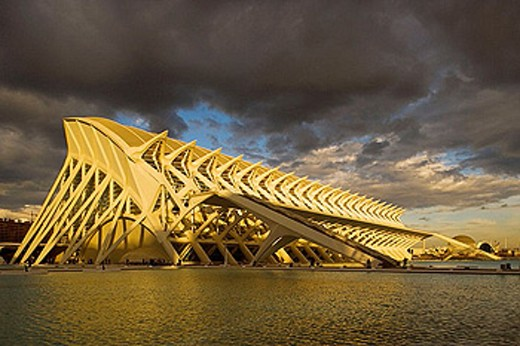 City of Arts and Sciences. Museum of Sciences Principe Felipe. Valencia. Comunidad Valenciana, Spain : Stock Photo