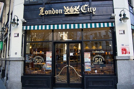 Stock Photo: 1566-384499 ´Café London City´, Buenos Aires, Argentina. Famous for ´The Winners´ written by  Julio Cortázar.