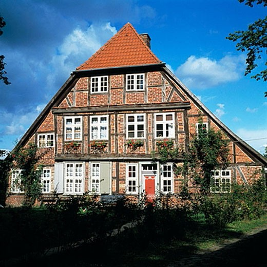 Stock Photo: 1566-384536 Germany, Schleswig-Holstein, Ratzeburg, half-timbered house