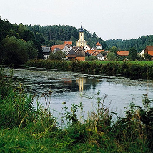 Stock Photo: 1566-384544 Germany, Bavaria, Waischenfeld, landscape of the Wiesent river in the Wiesent Valley