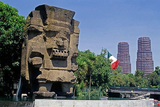 National Museum of Anthropology. Mexico City. Mexico : Stock Photo