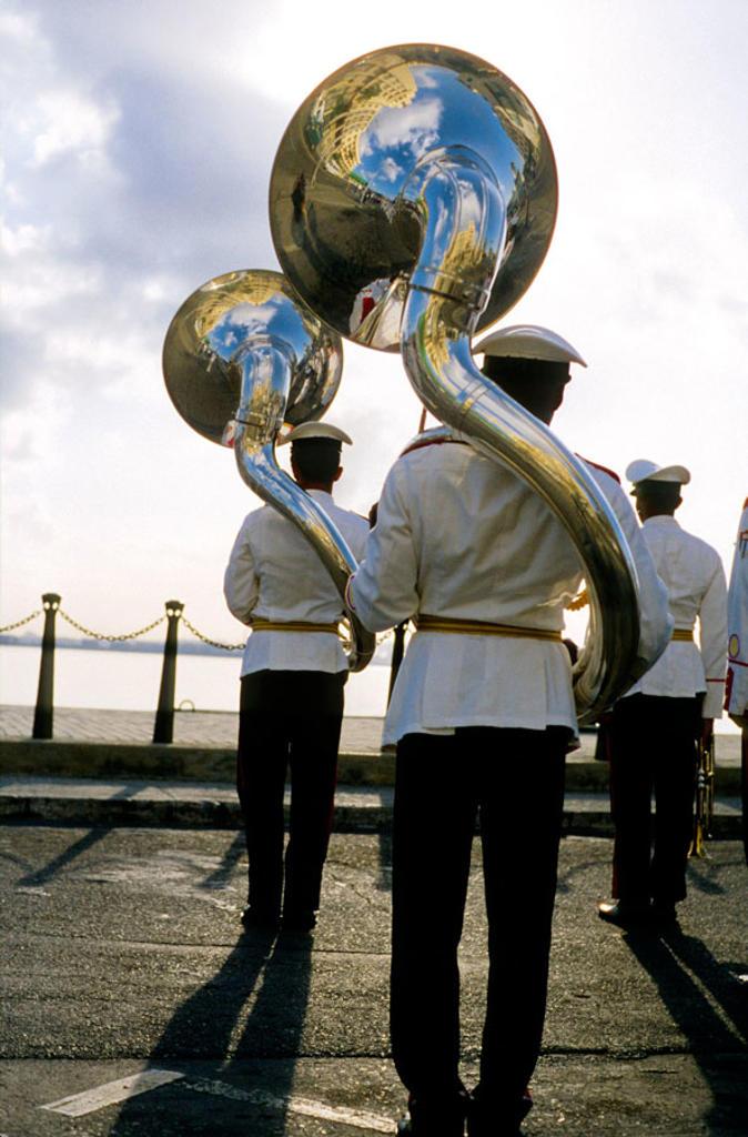 Stock Photo: 1566-385611 Sailors of the cuban navy. La Habana. Cuba.