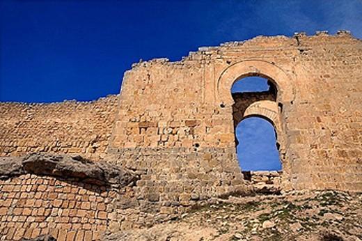 Castle, Gormaz. Soria province, Castilla-León, Spain : Stock Photo