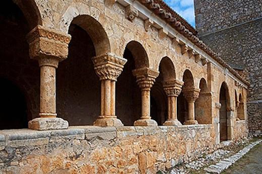 Iglesia de San Miguel Arcángel. Andaluz, Soria, Castilla y León. Spain. : Stock Photo