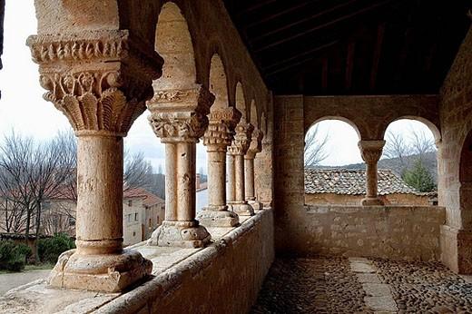 Iglesia de San Miguel Arcángel. Andaluz. Soria, Castilla y León. Spain. : Stock Photo