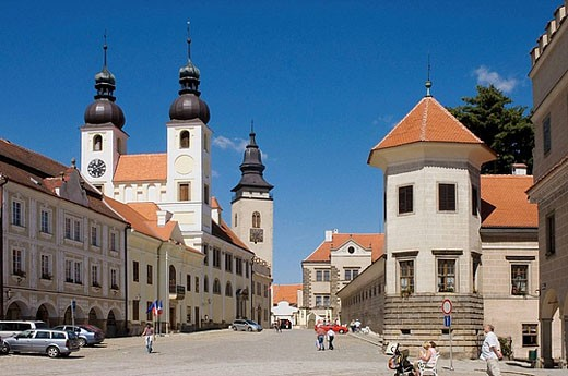 Telc, South Moravia, Czech Republic : Stock Photo