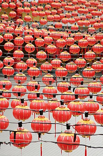 Stock Photo: 1566-390214 Chinese lanterns in Thean Hou Temple, Kuala Lumpur, Selangor, Malaysia, Asia