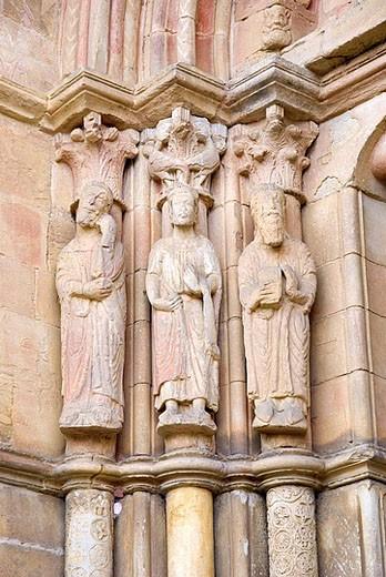 Romanesque church of San Juan del Mercado. Benavente. Zamora province, Castilla-Leon, Spain (National Monument since 1931) : Stock Photo
