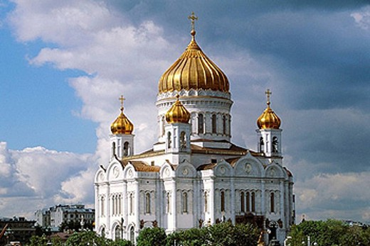 Stock Photo: 1566-390422 Russia, Moscow, Cathedral of Christ the Savior.