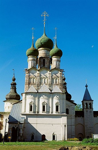 Russia. Rostov. Nero lake. Russia. Rostov. Kremlin. Church of Saint John the Divine. : Stock Photo