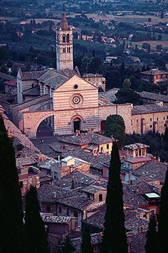 Basilica Santa Chiara. Assisi. Umbria. Italy. : Stock Photo