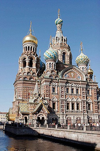 Stock Photo: 1566-392858 Church of the Resurrection (Church of the Bleeding Savior), St. Petersburg. Russia