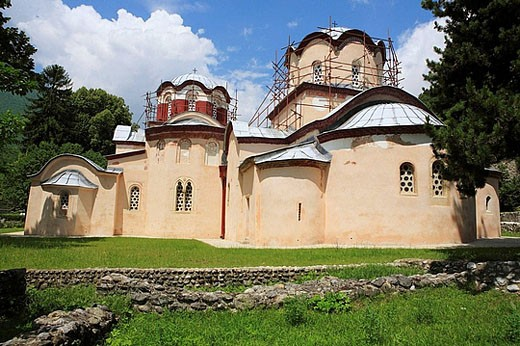 Holy Apostles church (1230-1330´s) of the Patriarchate of Pec, Kosovo, Serbia : Stock Photo
