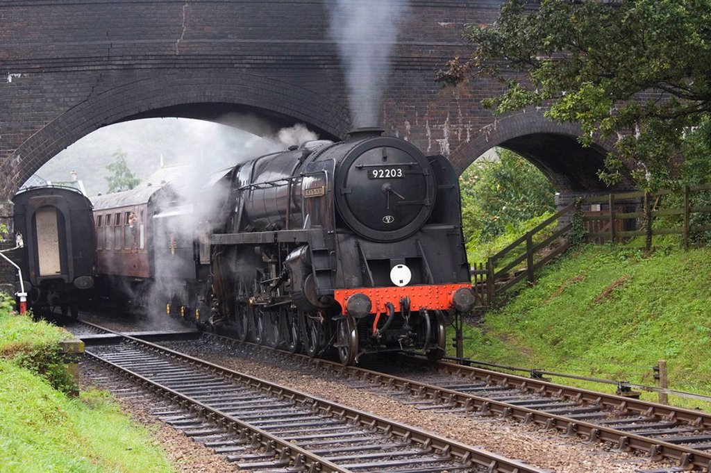 Stock Photo: 1566-393744 Steam Locomotive Black Prince