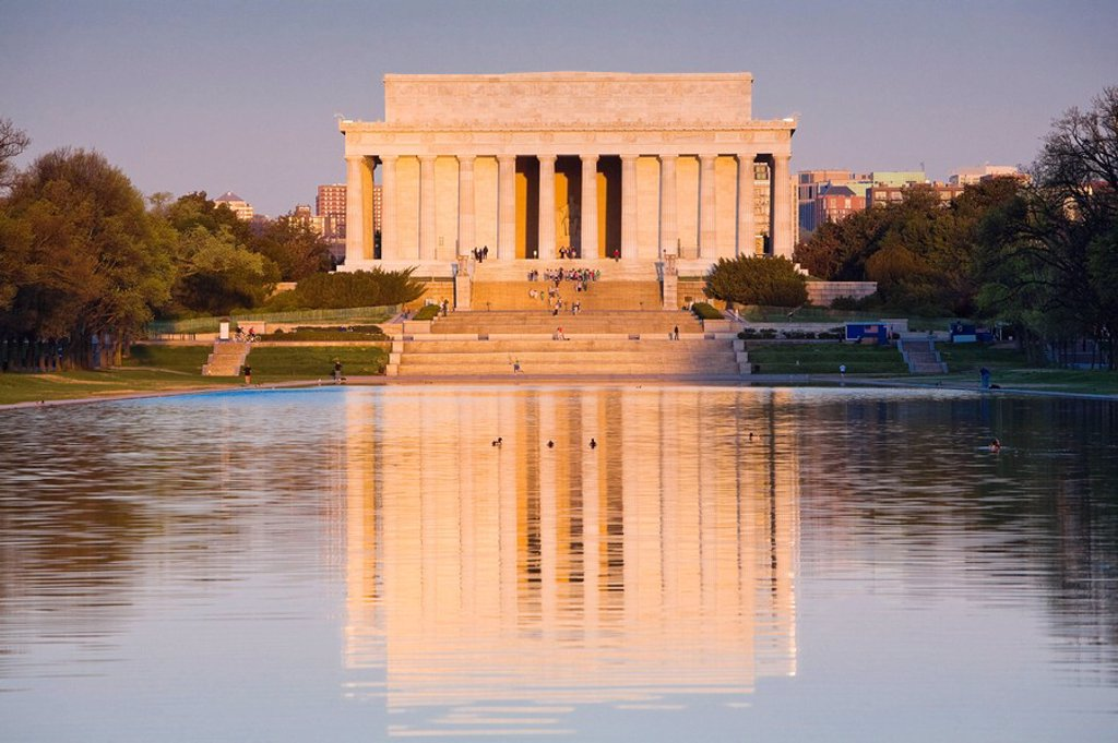 Stock Photo: 1566-393853 Lincoln Memorial. Washington DC. USA.