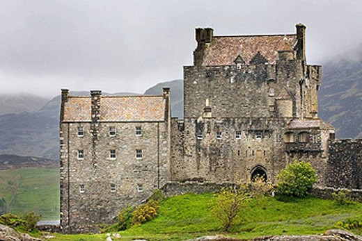 Eilean Donan Castle along the shores of Loch Duich Scotland : Stock Photo