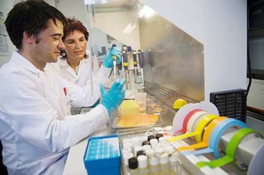 Stock Photo: 1566-395098 Microbiology laboratory. Light pulses technology for food preservation (fishing products). Microbiological analysis. AZTI-Tecnalia. Technological Centre specialised in Marine and Food Research. Sukarrieta, Bizkaia, Euskadi. Spain.