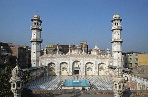 Pakistan, N W Frontier Province, Peshawar, Mahabat Khan Mosque : Stock Photo