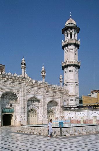 Stock Photo: 1566-395155 Pakistan, N W Frontier Province, Peshawar,  Mahabat Khan Mosque