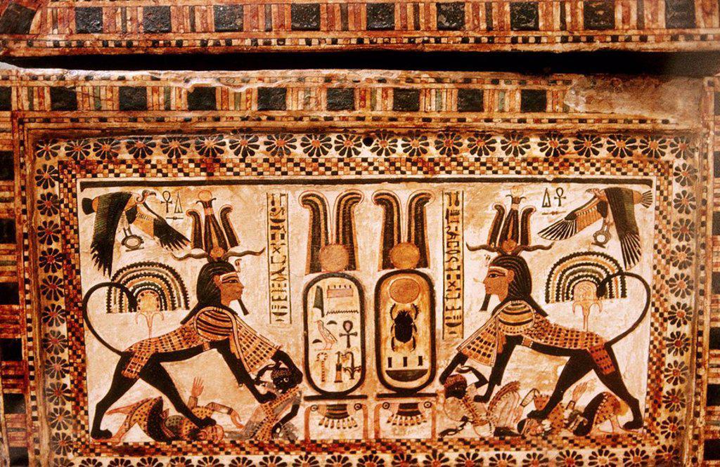 Coffer. Tutankhamun´s Treasure. Cairo Museum. Egypt : Stock Photo