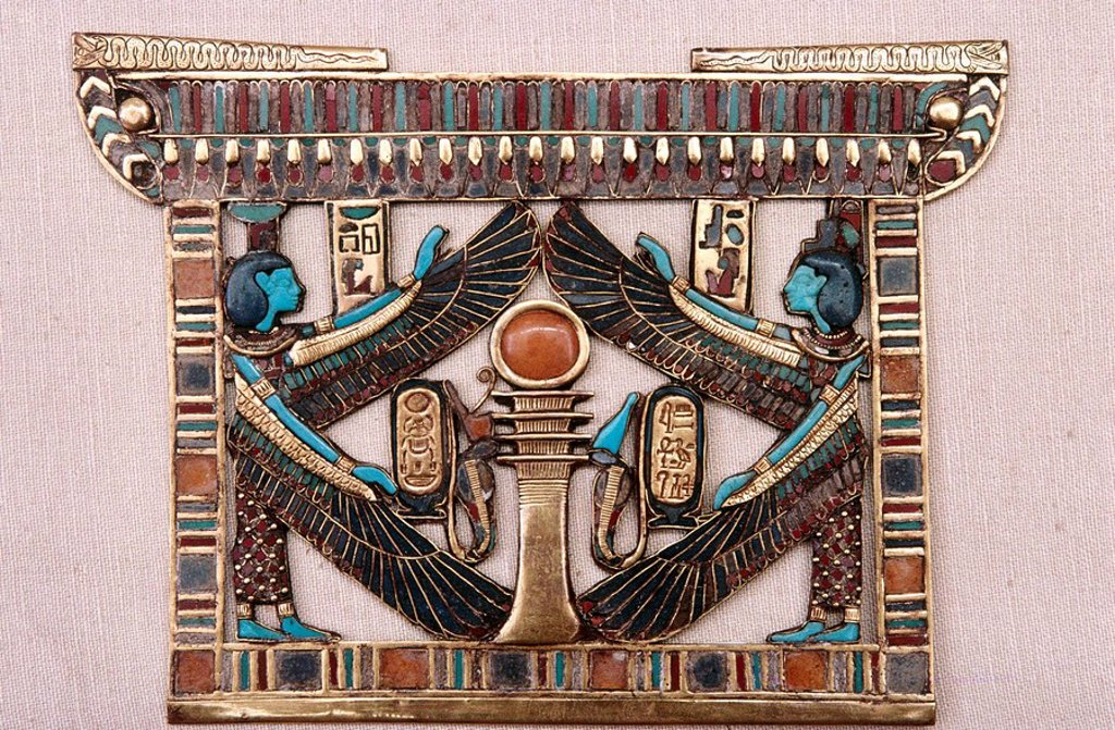 Jewel. Tutankhamun´s Treasure. Cairo Museum. Egypt : Stock Photo