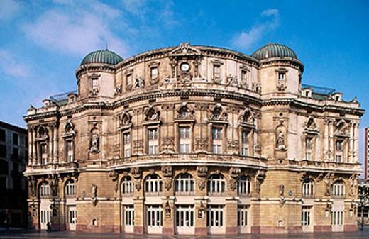Spain. Euskadi, Biscay, Bilbao. Arriaga Theatre : Stock Photo