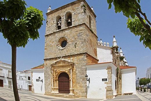 Santa Maria Magdalena church, at Olivenza. Badajoz province. Extremadura. Spain. : Stock Photo