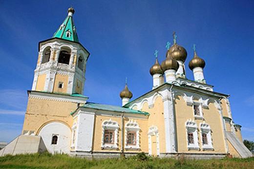 Stock Photo: 1566-395989 Ascension church (1686-1694), Verkhnie Matigory, Archangelsk (Arkhangelsk) region, Russia