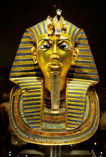 Stock Photo: 1566-396177 Toutankahmon mask, Cairo museum, Cairo, Egypt
