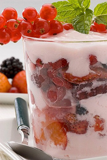 Fruit  yoghurt : Stock Photo