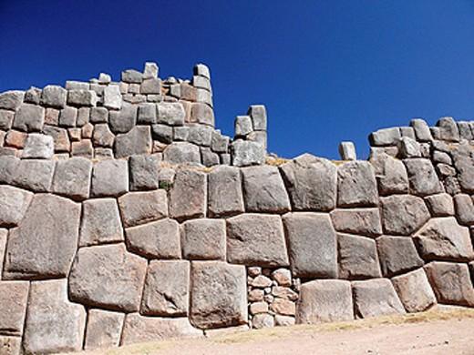 Sacsayhuamán, Qenco, Puka-pukara and Tambomachay archaeological sites near Cusco. Peru : Stock Photo